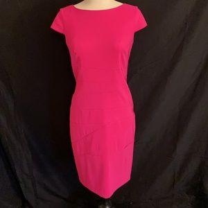 AGB Dress Form Fitting Fuchsia Dress